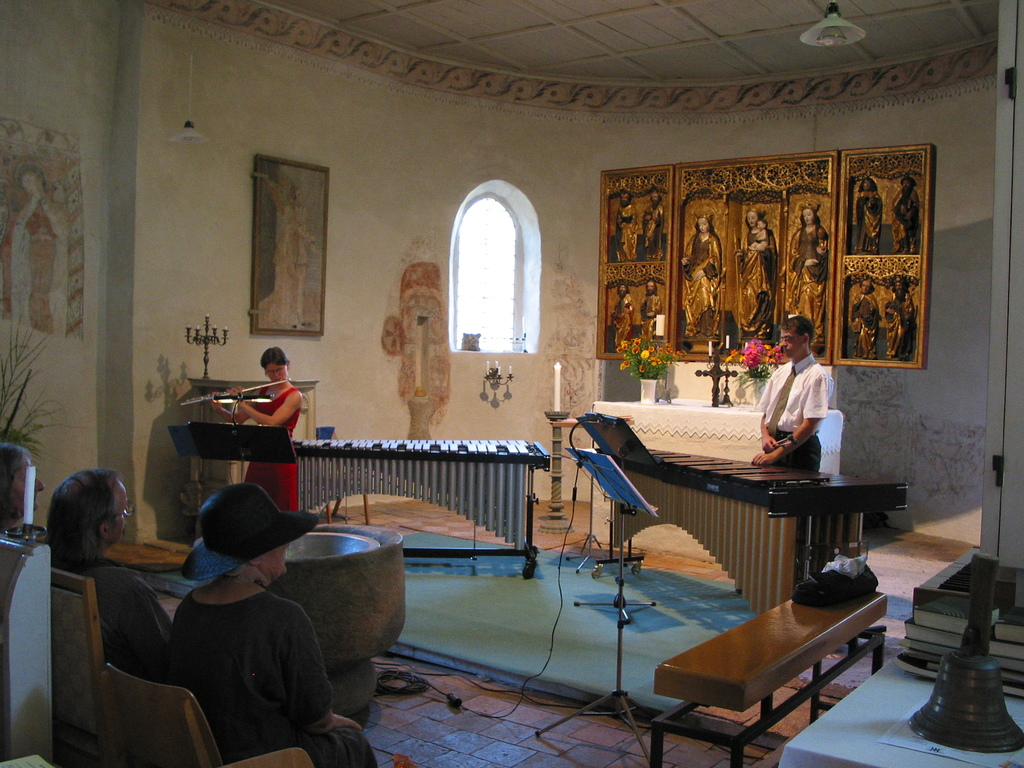 Bambusfest: Konzert in der Kirche, Konzert für Flöte und Marimba, Almut Unger - Flöte, Thomas Laukel - Marimba