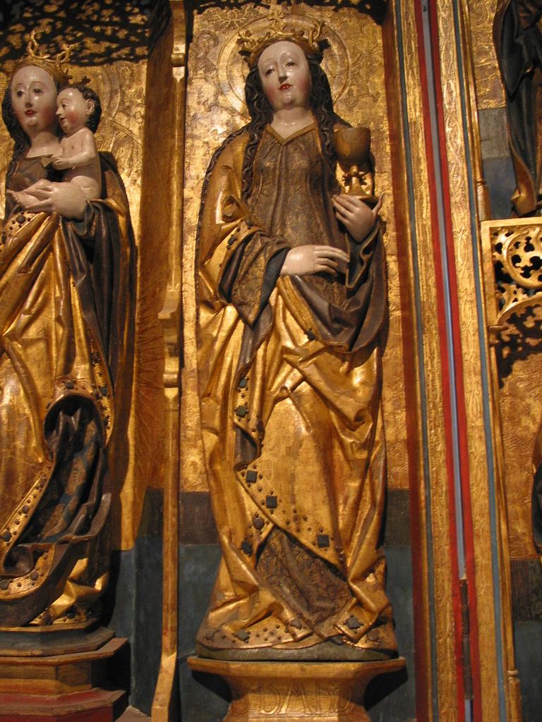 geschnitzter Altar, Details