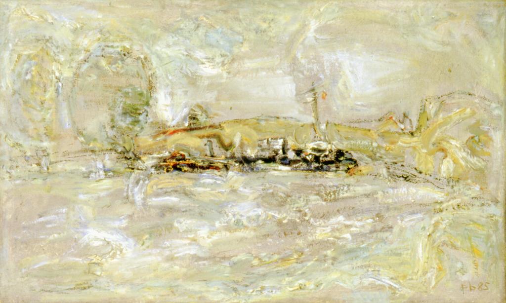 Elbelandschaften, 1985, Öl auf Leinwand, 30x50, Katalog Seite 17