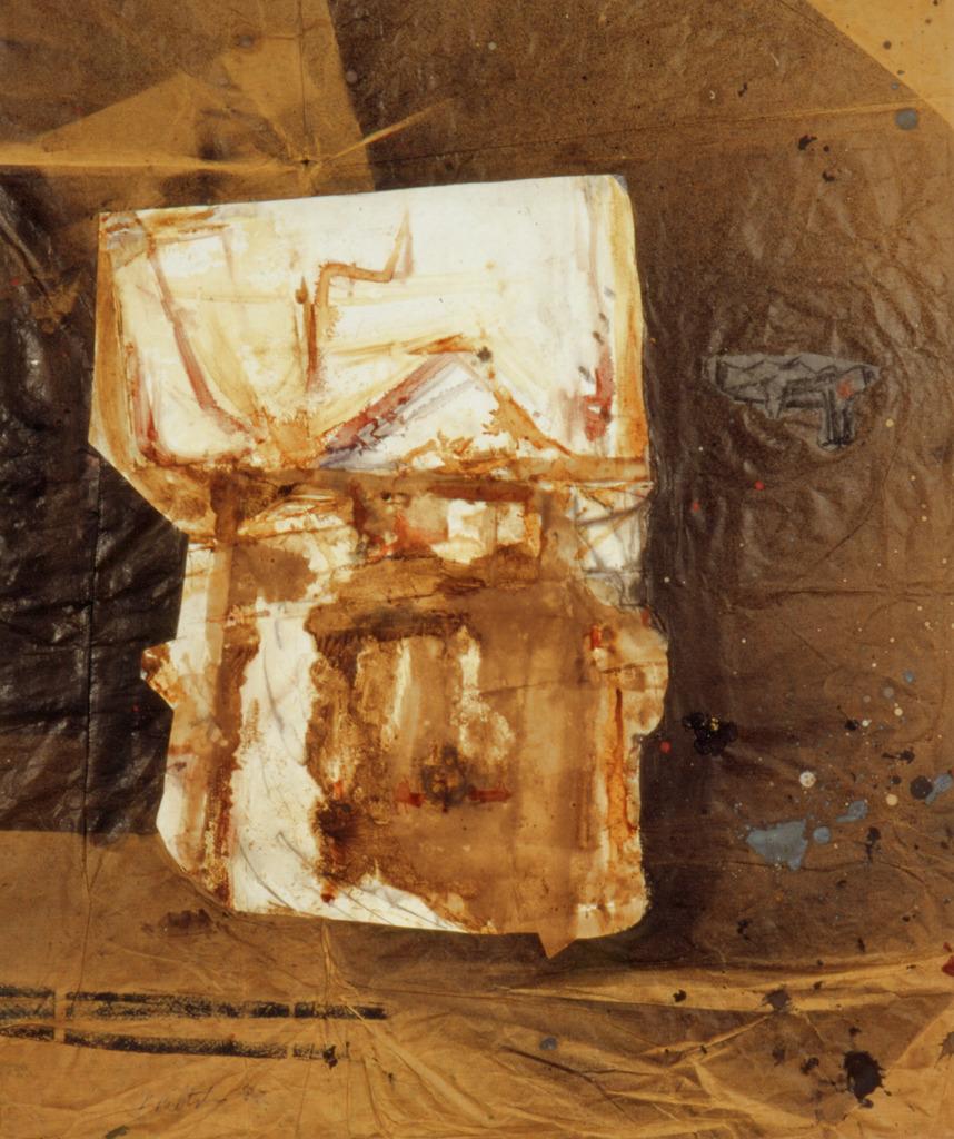 Doppelportrait, 1982, Collage auf braunem Packpapier, 85x69, Katalog Seite 22