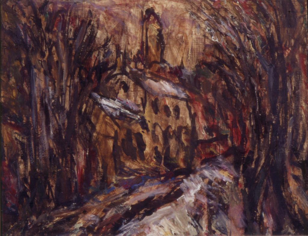Düsterer Tag am Giebichenstein, 1964, Öl auf Leinwand, 28x35, Katalog Seite 24