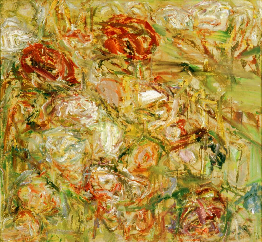 Blumenbild, 1986, Öl auf Leinwand
