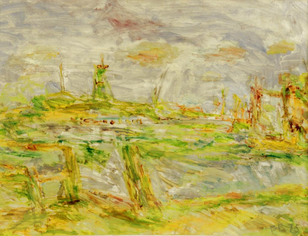 Grüne Landschaft, 1975, Öl auf Leinwand