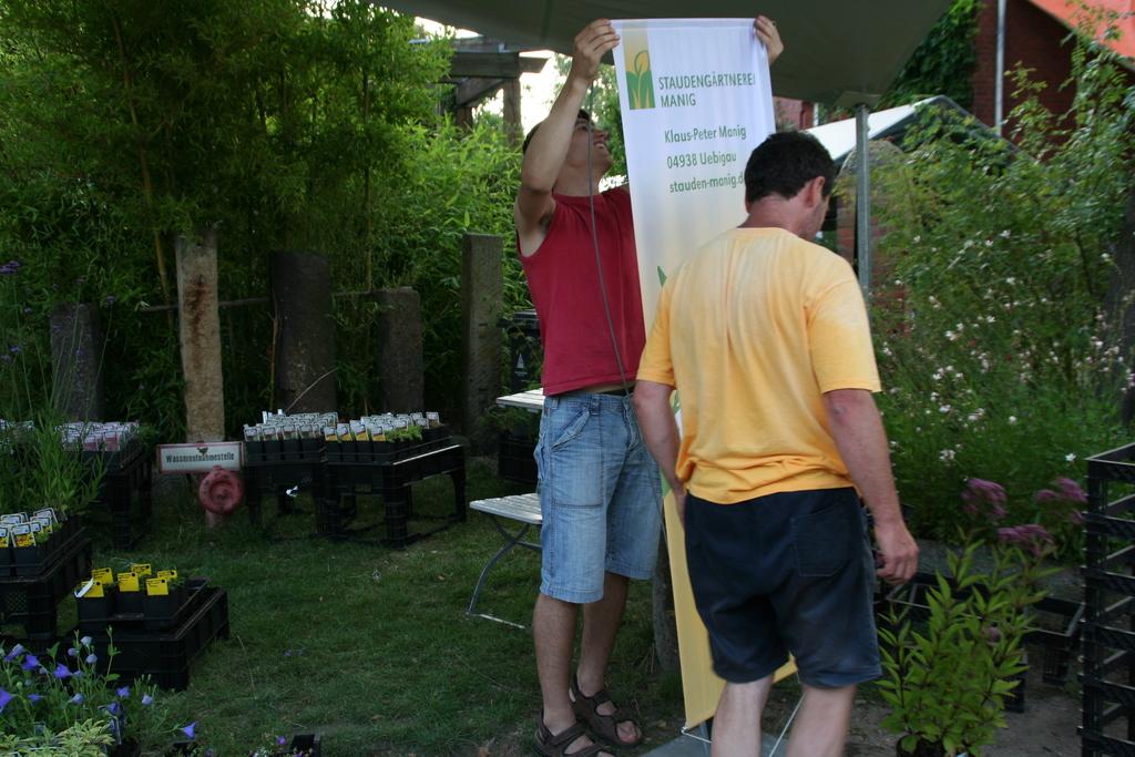 Vorbereitungen zum Bambusfest