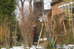 Gartenansicht  im Winter