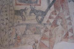 Wandmalerei in der Kirche