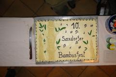 Bambusfest: Die Torte zum 10jährigen