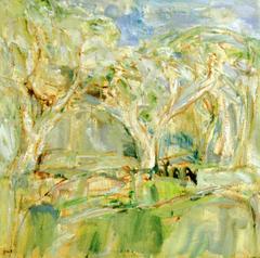 Grüne Landschaft I, 1985, Öl auf Leinwand, 50x50, Katalog Seite 18