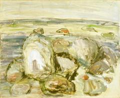 Steine II, 1978, Öl auf Leinwand, 60x73, Katalog Seite 11