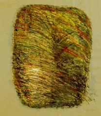 Form mit Schraffur, 1987, Tempera auf Papier, 47x41, Katalog Seite 21