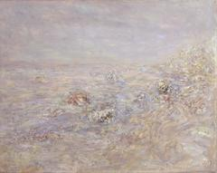 Stein in der Ostsee (Landschaft bei Kap Arkona), 1979, Öl auf Leinwand