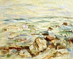 Landschaft bei Kap Arkona, 1978, Öl auf Leinwand
