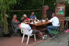 Rosenfest 2011: Unter den Mitwirkenden macht sich eine gewisse Erschöpfung breit ...